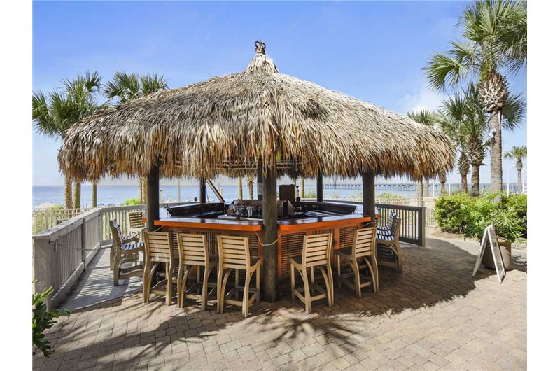 Have a refreshing drink while enjoying the Gulf at Calypso in Panama City Beach Florida