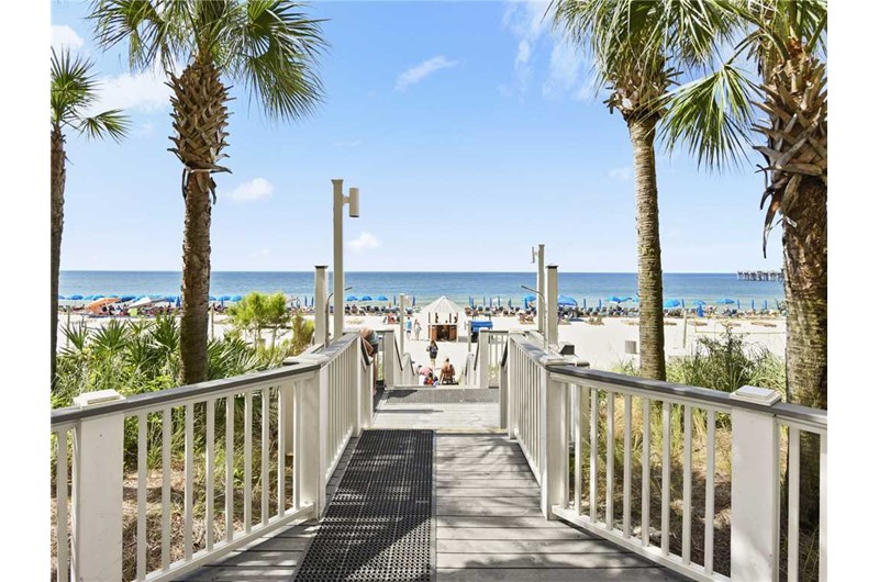 Delightful and easy access directly to the beach from Calypso in Panama City Beach FL
