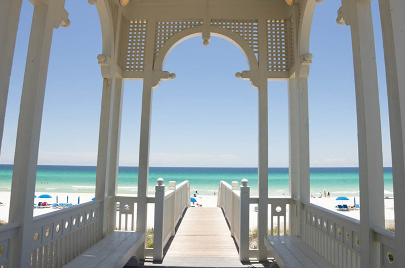 Perfect spot to read and view the Gulf at the same time while at Carillon Beach Resort Inn
