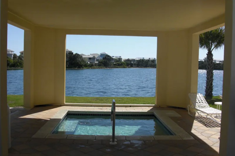 Waterfront Pool and Hot Tub Carillon Beach Resort Inn PCB