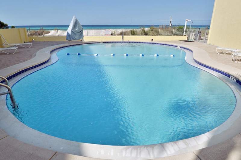 Pool faced the Gulf at Continental Condominiums in Panama City Beach Florida