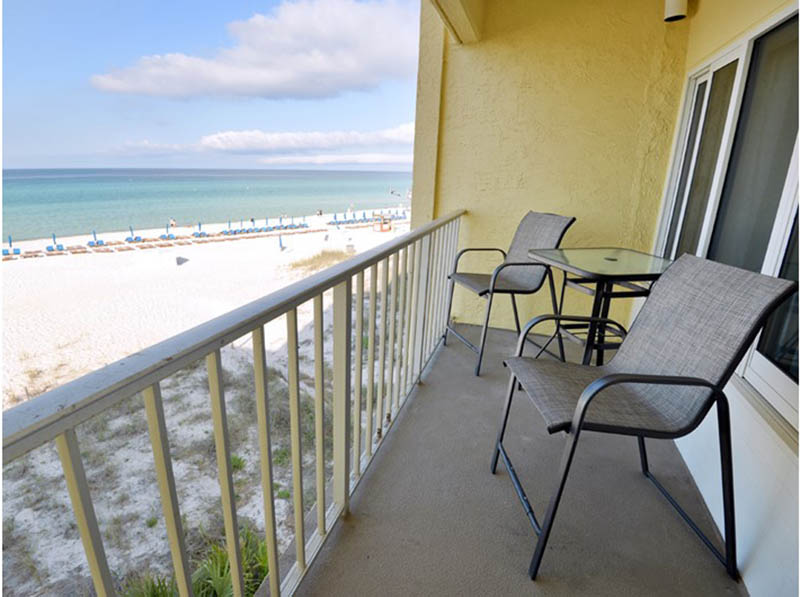 Great view of the beach and Gulf from Continental Condos in Panama City Beach FL