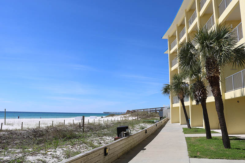 You will be steps from the beach at Continental Condos in Panama City Beach FL
