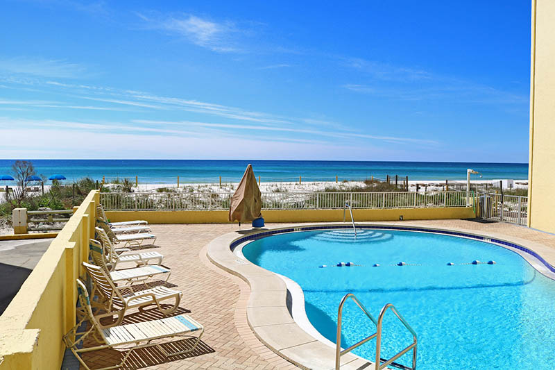 Relax and unwind in the beachfront pool at Continental Condos in Panama City Beach FL