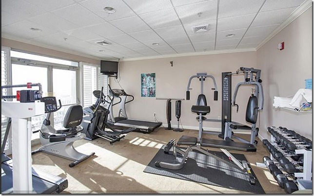When not on the beach get your workout in at the gym at Coral Reel in Panama City Beach FL