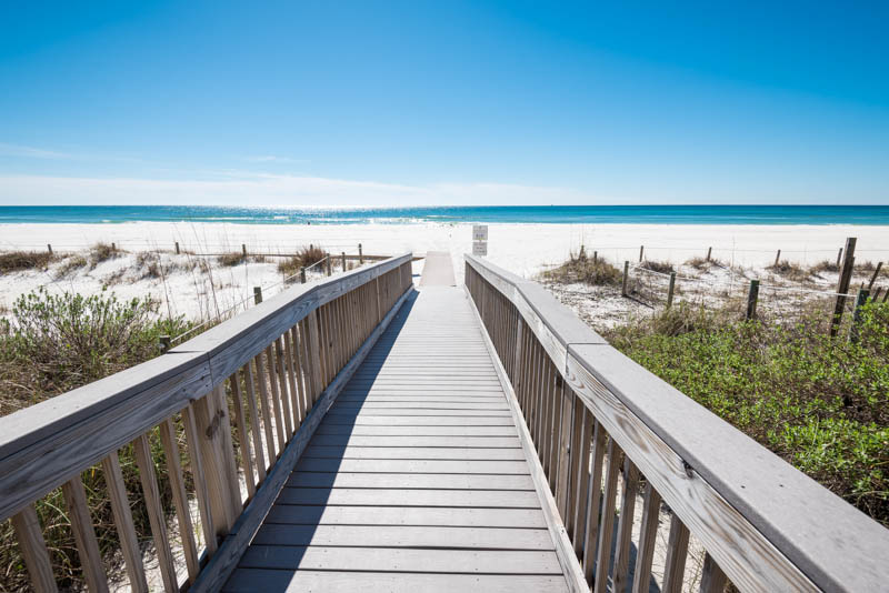 Easy access to the sand and Gulf from Edgewater Beach and Golf Resort in Panama City Beach FL