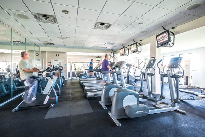 You will enjoy a nice workout in the gym at Edgewater Beach and Golf Resort in Panama City Beach FL