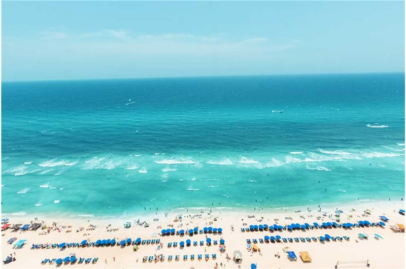 Gorgeous view of the Gulf from Emerald Beach Resort in Panama City Beach FL