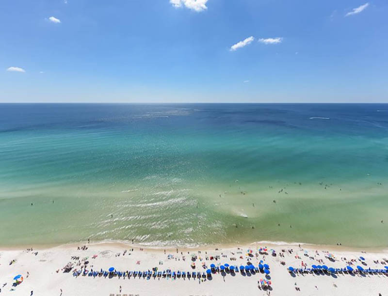 You won't get a better view of the Gulf than from Emerald Beach Resort in Panama City Beach FL