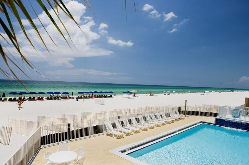 Beachfront pool at Emerald Isle in Panama City Beach Florida