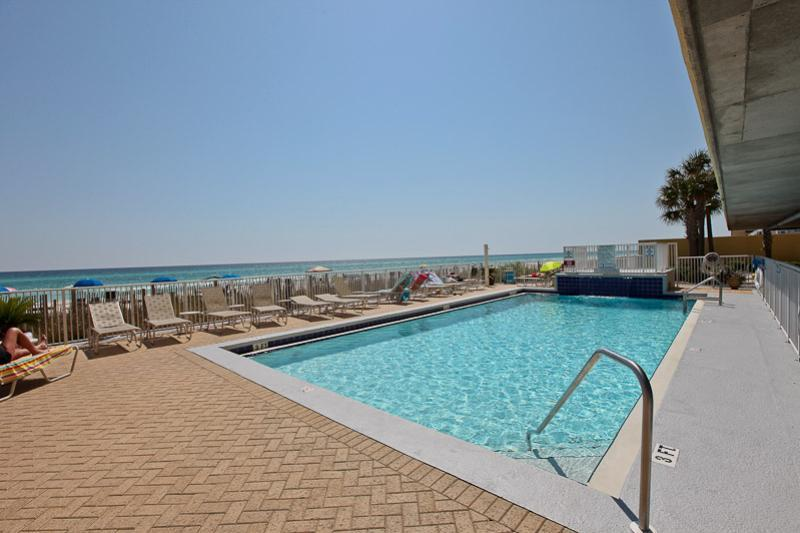Lovely beachside pool at Emerald Isle in Panama City Beach Florida