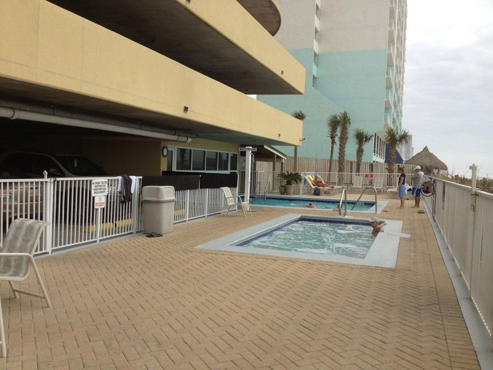 Hot tub at Emerald Isle in Panama City Beach Florida