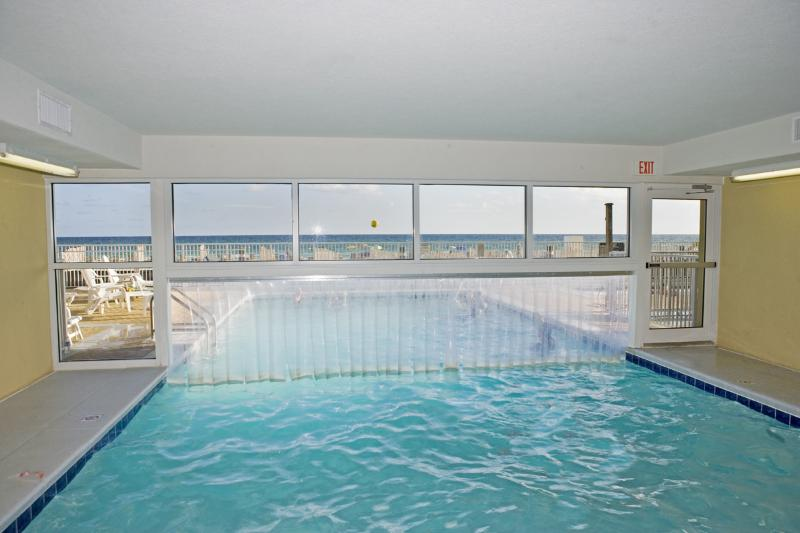 Indoor pool at Emerald Isle in Panama City Beach Florida