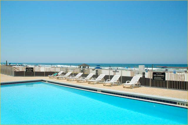 Lovely pool area at Emerald Isle in Panama City Beach FL