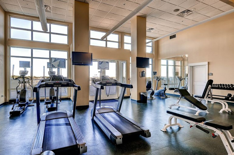 Nice gym for your workout at Grand Panama Beach Resort in Panama City Beach FL
