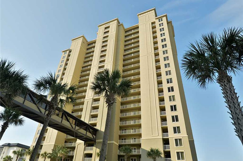 Easy access from the parking deck to your condo at Grand Panama Beach Resort in Panama City Beach FL