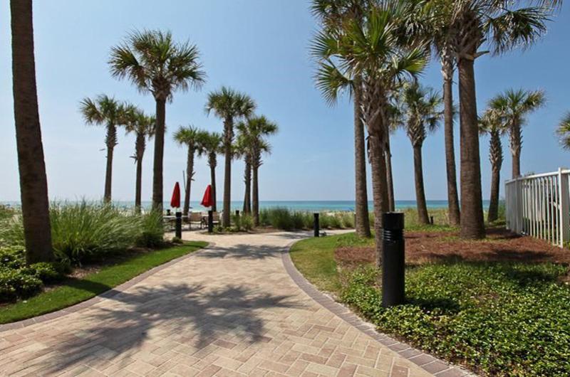 Nice walk to the beach and Gulf from Grand Panama Beach Resort in Panama City Beach FL