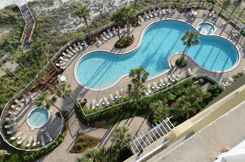 Amazing view of the pool from Grand Panama Beach Resort in Panama City Beach FL