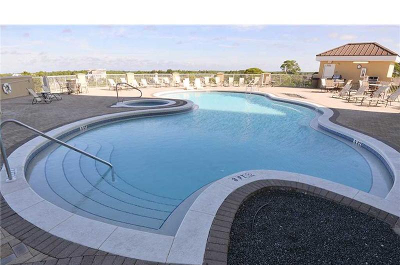 Take a refreshing dip in the pool at Grand Panama Beach Resort in Panama City Beach FL