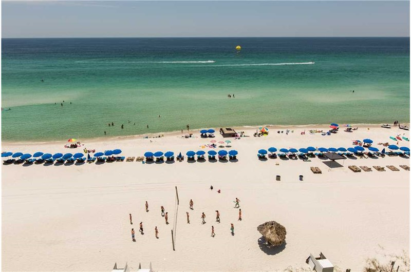Gulf view from Grandview East Resort in Panama City Beach Florida