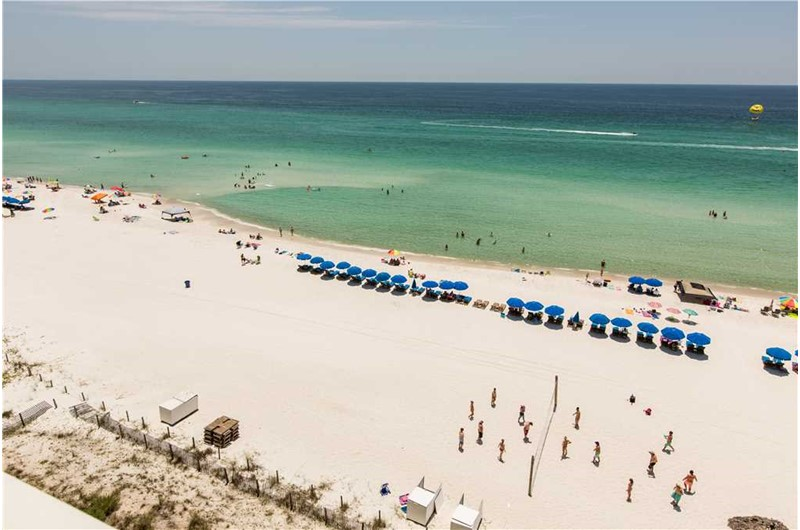 see miles of beach from Grandview East Resort in Panama City Beach Florida