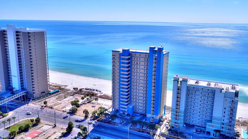 Aerial view of Grandview East Resort in Panama City Beach Florida
