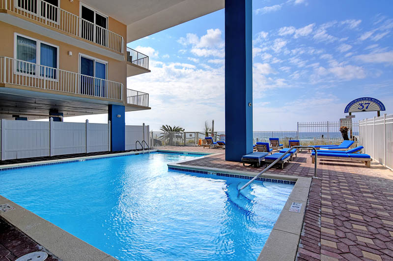 Fabulous pool to cool off in at Grandview East Resort in Panama City Beach Florida