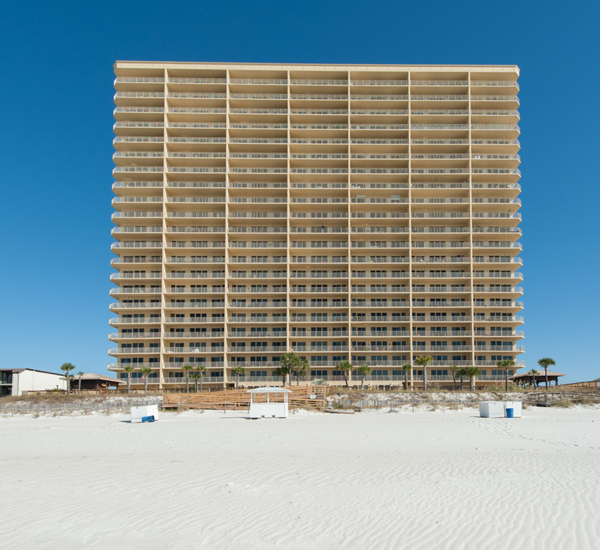 Gulf Crest Condominiums in Panama City Beach Florida is beach front