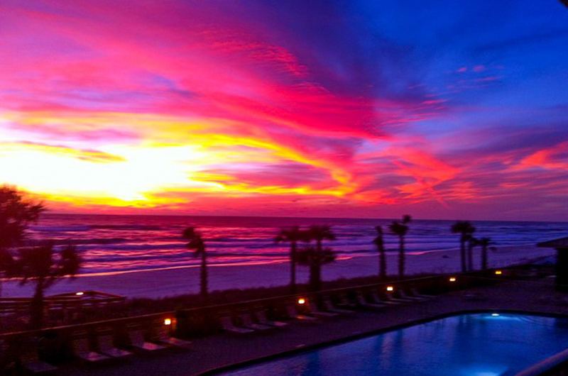 Amazing sunsets from Gulf Crest Condominiums in Panama City Beach Florida