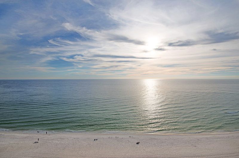 stunning view of the Gulf from Gulf Crest Condominiums in Panama City Beach Florida