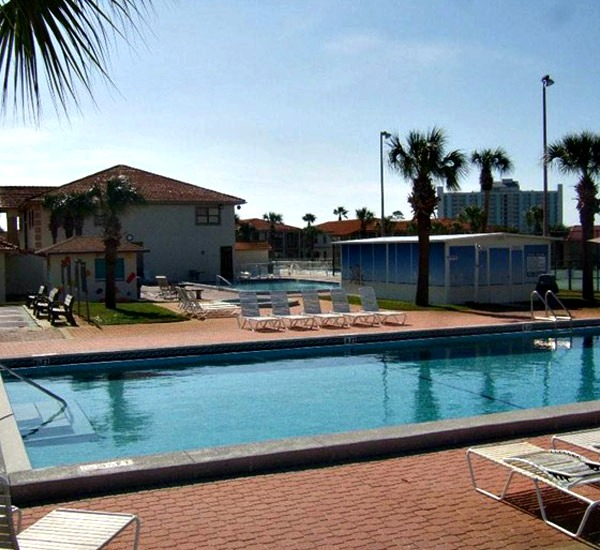 Exterior Pool View Of Horizon South In Panama City Beach Florida