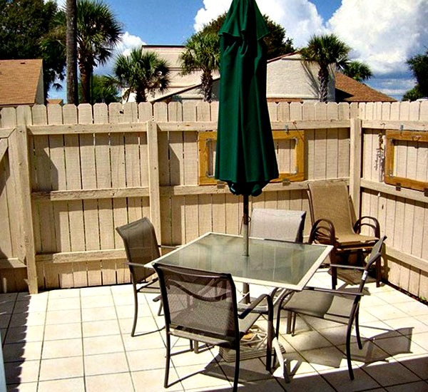 Private porch at Horizon South in Panama City Beach Florida