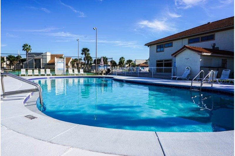 Pool area at Horizon South in Panama city Beach Florida