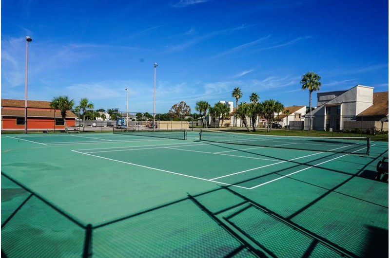Nice tennis courts at Horizon South in Panama City Beach Florida