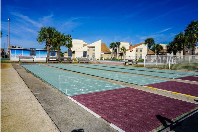 Play a round of shuffleboard at Horizon South in Panama City Beach Florida