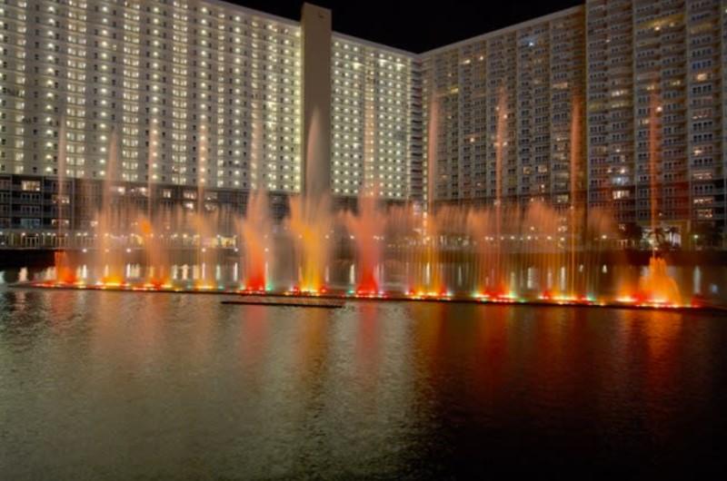Laketown Wharf's Fountains at Night