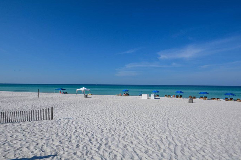White sand and blue water right out your door at Largo Mar in Panama City Beach FL