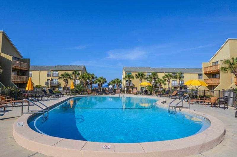 Lounge around the large pool at Largo Mar in Panama City Beach FL