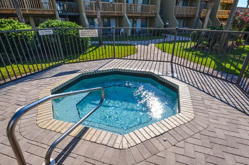 Let the stress wash away in the hot tub at Largo Mar in Panama City Beach FL