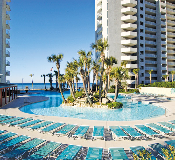 Beautiful Gulf-front pool at Long Beach Resort Panama City