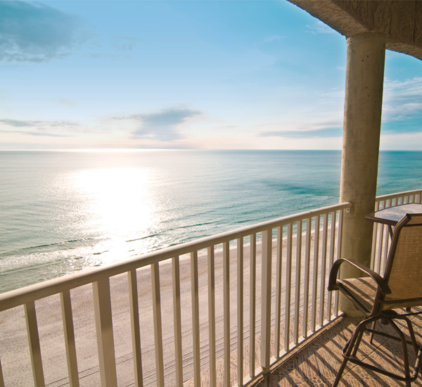View from one of the Gulf-front balconies at Long Beach Resort Panama City Beach FL