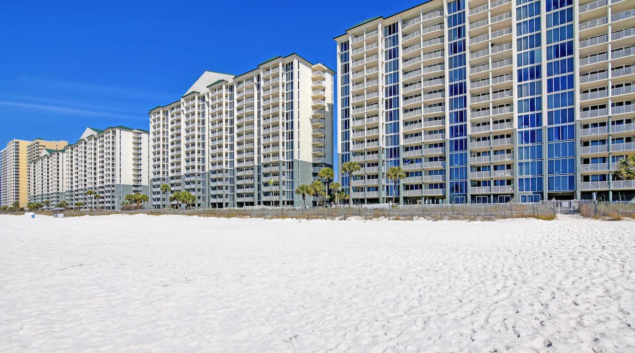 You will be right on the beach at Long Beach Resort Panama City Beach FL