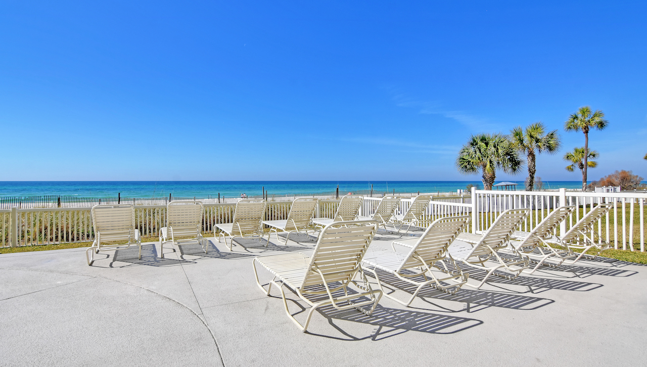 There is plenty of room for the entire family around the expansive pool at Long Beach Resort Panama City Beach FL