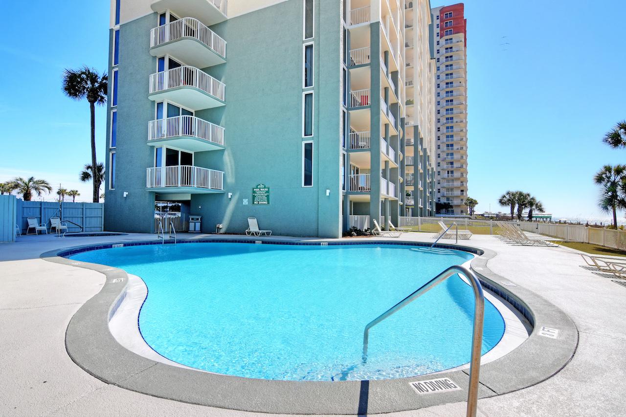 Take a dip in one of many pools  at  Long Beach Resort Panama City Beach FL