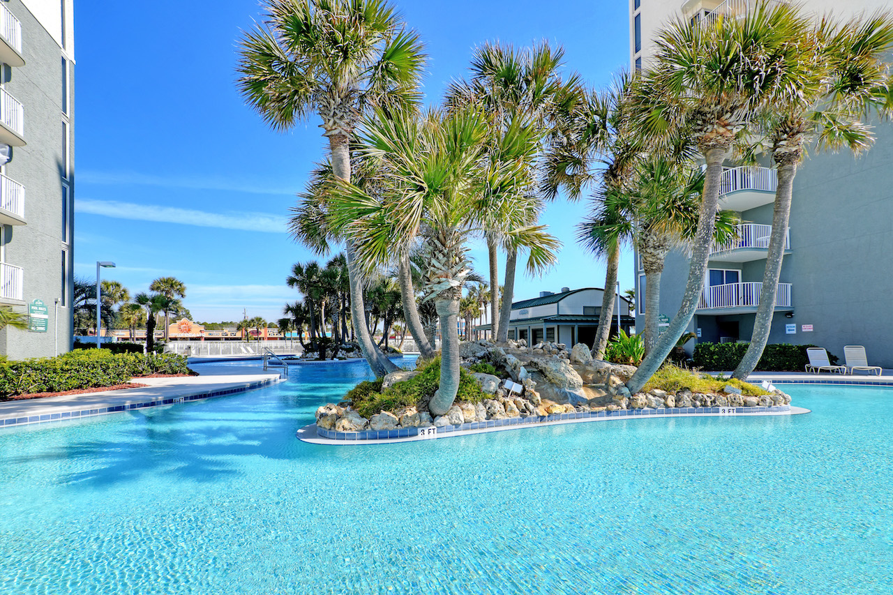 You will want to swim all day long in this pool at Long Beach Resort Panama City Beach FL