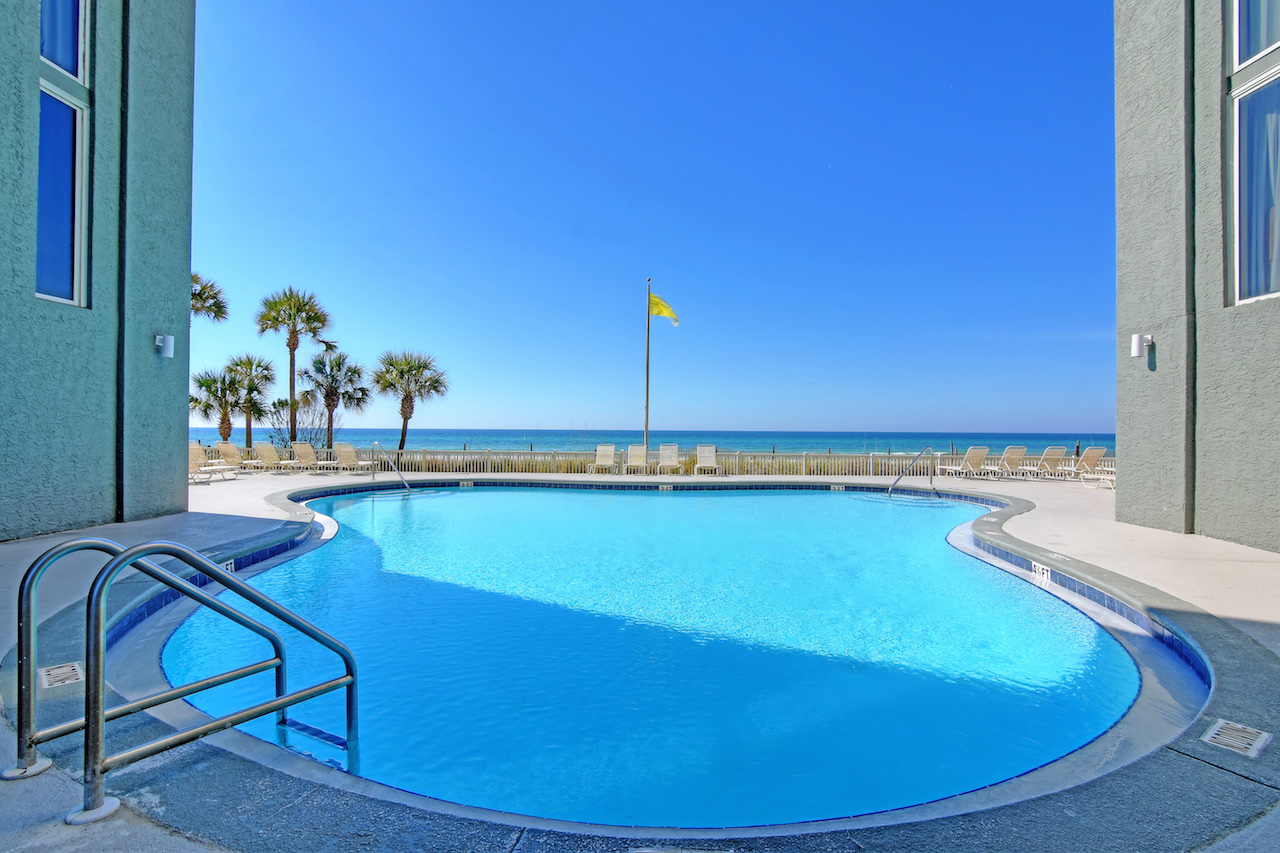 Enjoy this sweet pool with an amazing view at Long Beach Resort Panama City Beach FL