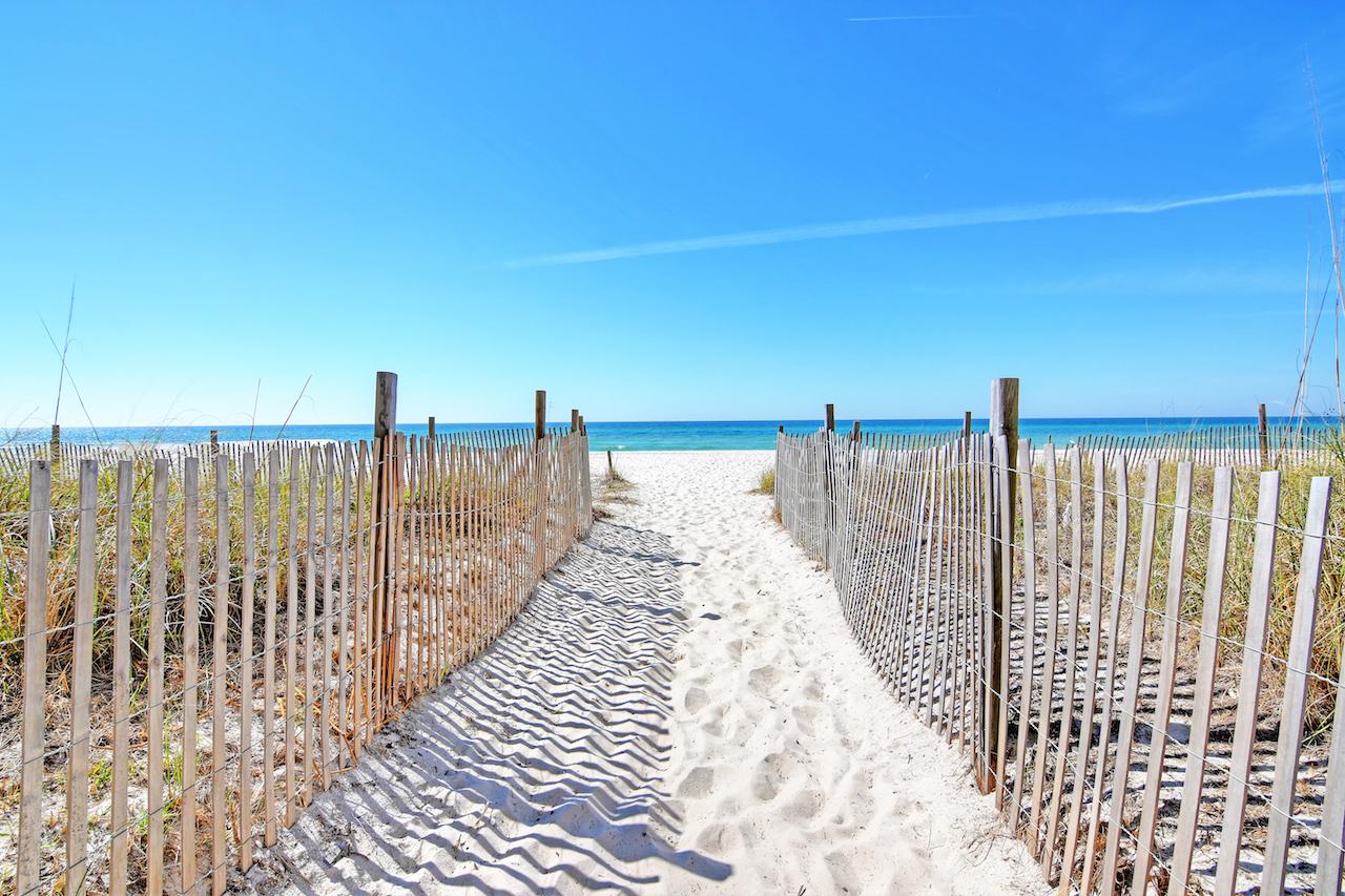 Easy access to the beach at Long Beach Resort Panama City Beach FL