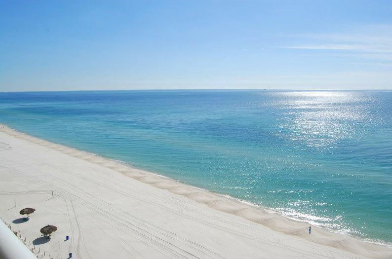 Azure waters at Majestic Beach Resort in Panama City Beach FL