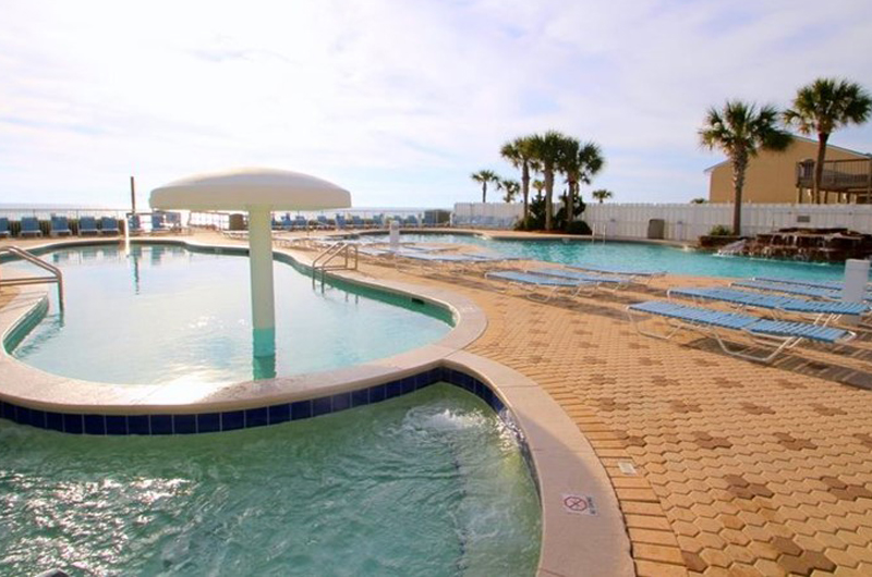 The kids will have a blast in the splash pool at Majestic Beach Resort in Panama City Beach FL