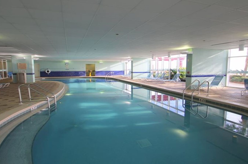 Spend time in the indoor pool all year long at Majestic Beach Resort in Panama City Beach FL